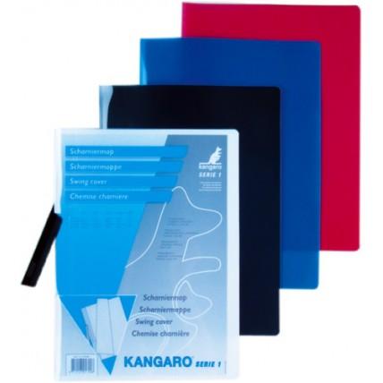 Dosar plastic cu clema pivotanta, KANGARO - Alb